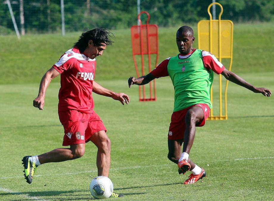 Radamel Falcao et Eric Abidal