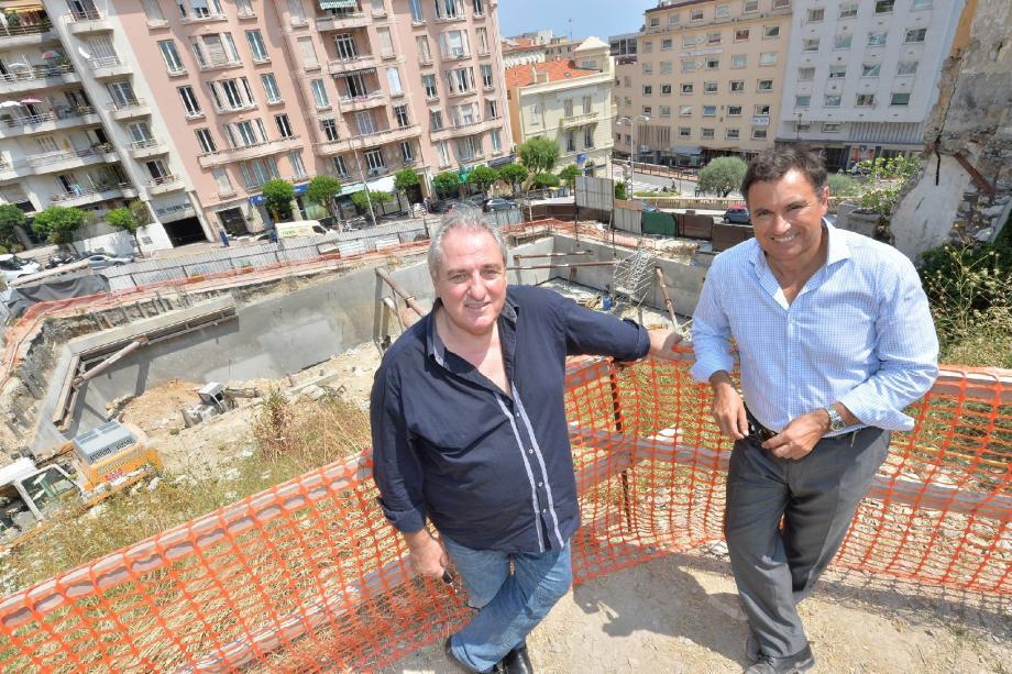 Richard Marcus et Frédéric Poilvet sur le chantier d'Over Monte-Carlo.