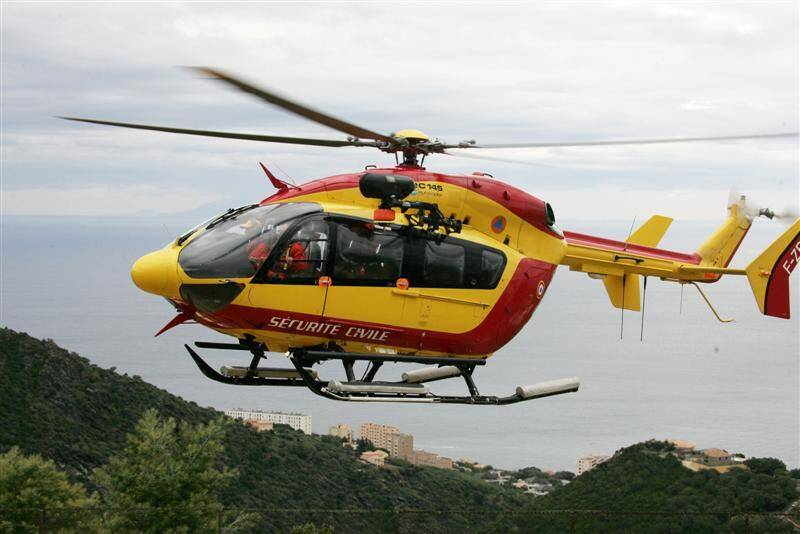 L'EC-145 de la sécurité civile.