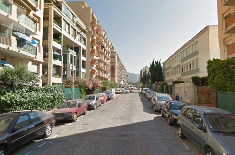 La rue du Général Samarito à Nice