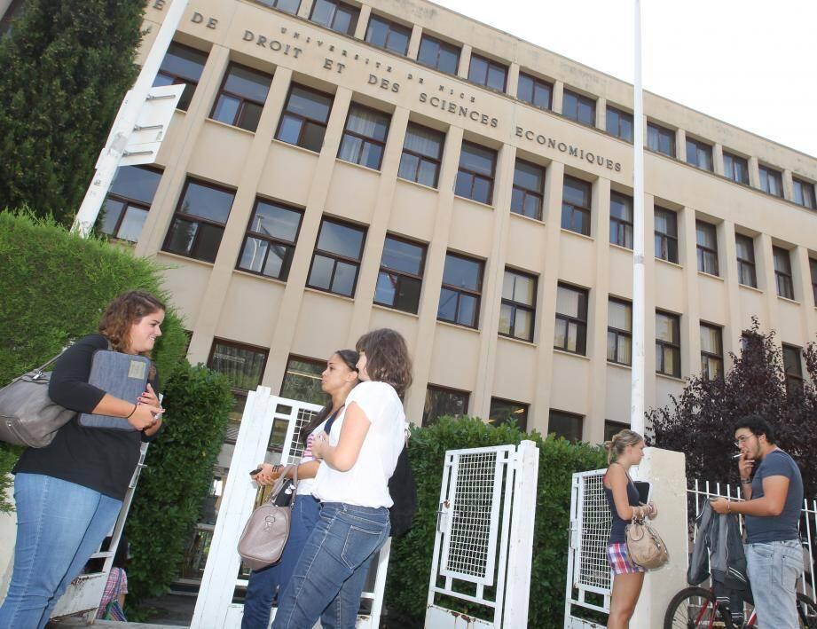 La fac de Droit et des Sciences économiques de l'Université de Nice - Sophia-Antipolis.