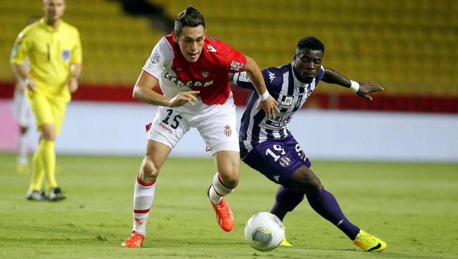 Ocampos et l'AS Monaco freinés par Toulouse vendredi soir.