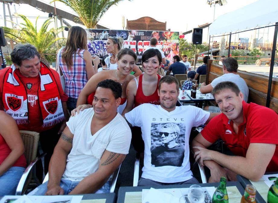 L'an dernier, Chris Masoé, Joe Van Niekerk et Bakkies Botha (de gauche à droite) avaient déjà fait sensation !