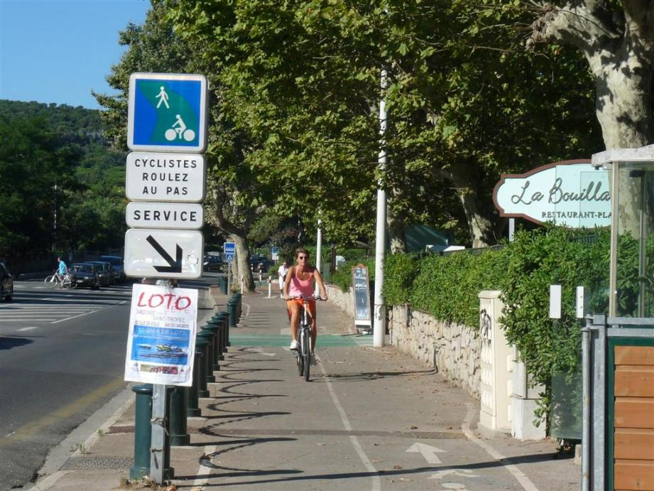 Piste cyclable Saint-Tropez