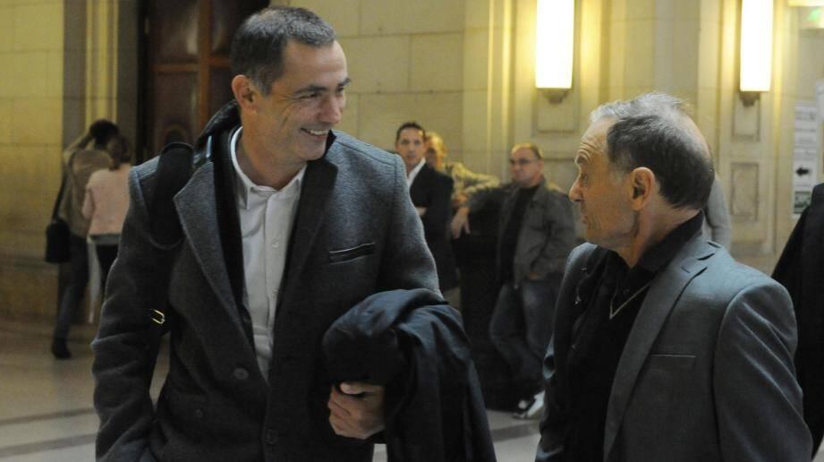 Me Gilles Simeoni et son client, Jean Casta, maire de la commune de Pietralba.