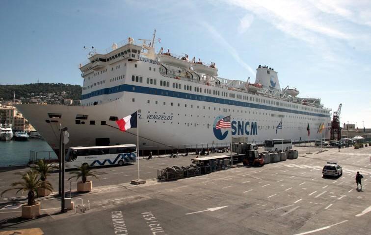 Le Venizelos, le bateau-hôtel des Jeux de la Francophonie.