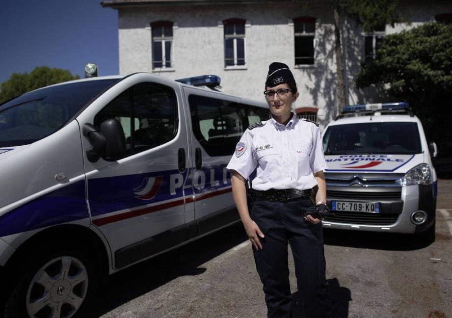 Le commissaire Marion Audigier dirige les unités en tenue de Nice et de Villefranche-sur-Mer.