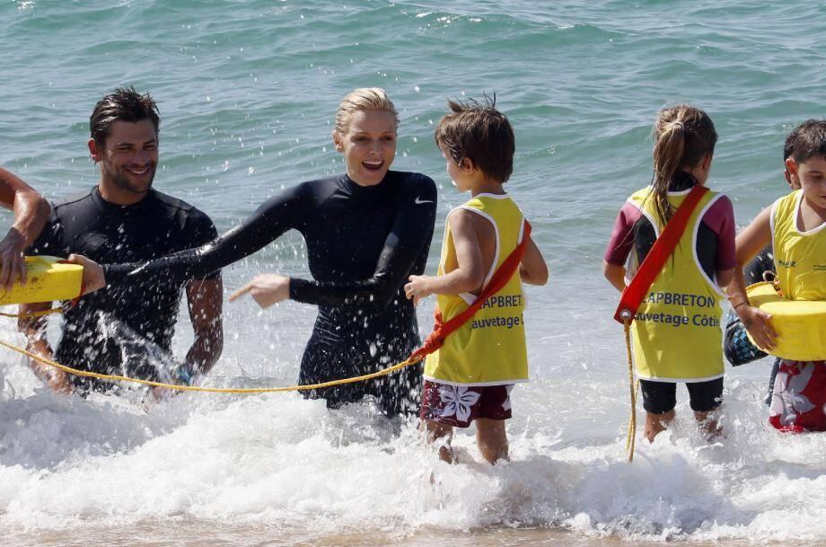 La princesse Charlène, professeur de natation - 22440483.jpg