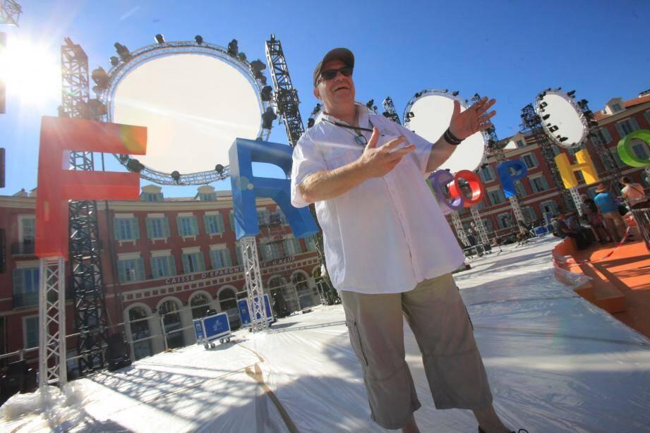 Philippe Cieutat, metteur en scène de la cérémonie d'ouverture des Jeux de la Francophonie à Nice.