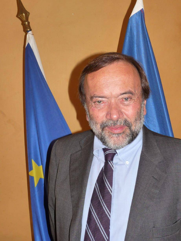 Gaston Franco, maire de Saint-Martin-Vésubie et député européen.