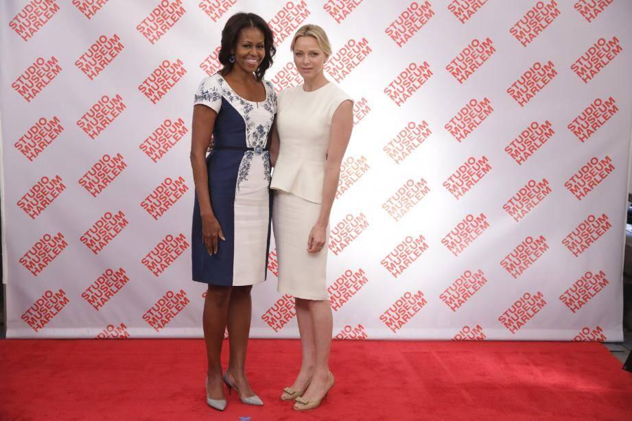 La princesse Charlène a assisté à un déjeuner avec Michelle Obama à New York.