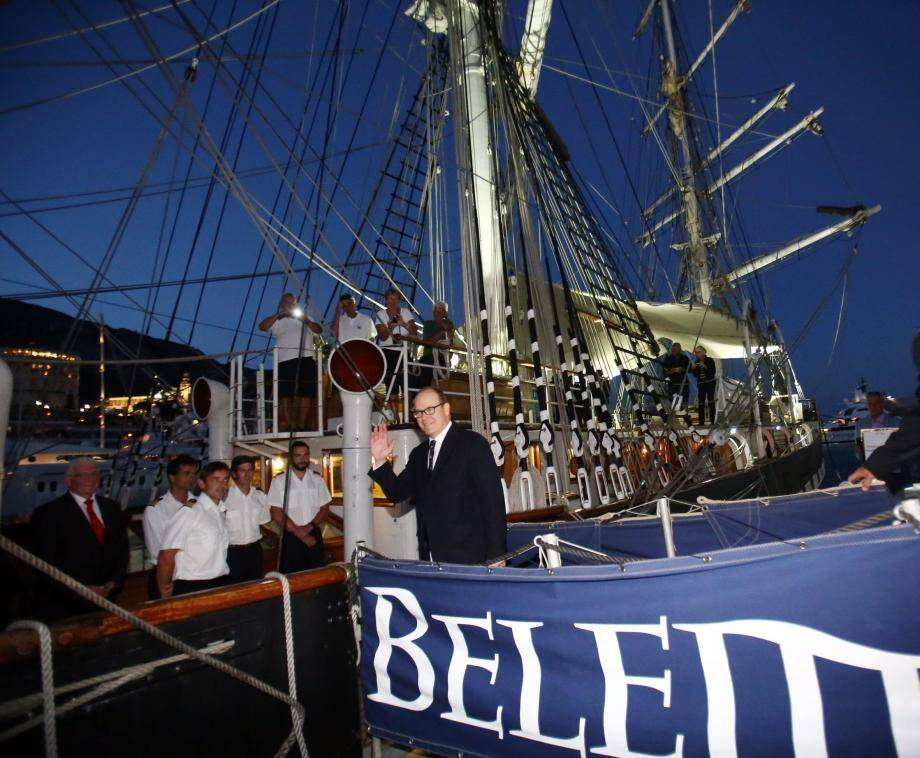 Le prince Albert-II a inauguré avec son neveu, Pierre Casiraghi la 11e édition du Classic Week sur le quai Antoine-Ier