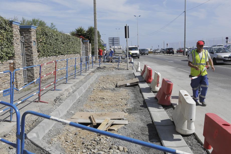 Le chantier va prendre une voie de circulation sur les trois