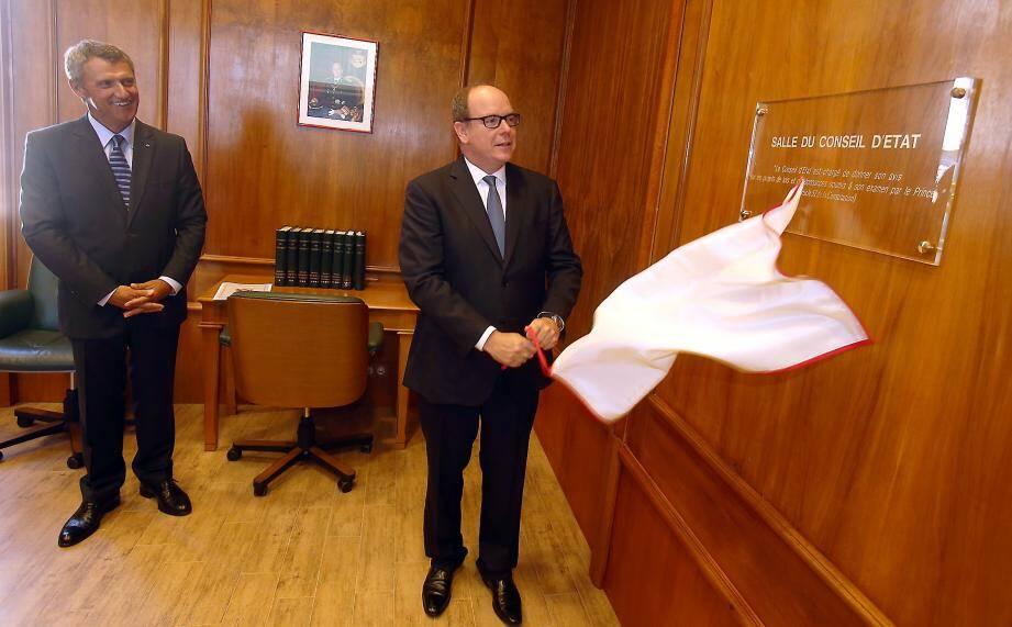 Le prince Albert II a inauguré l'extension du Palais de justice.