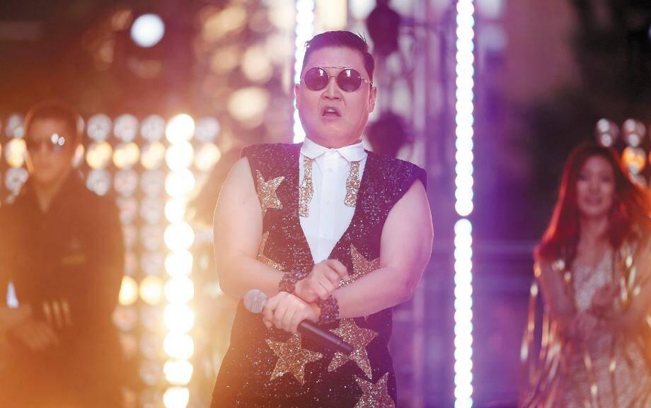 Le chanteur coréen Psy aux NRJ Music Awards 2013.