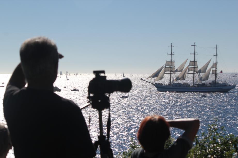 Départ des grands voiliers de la Tall Ships Race.
