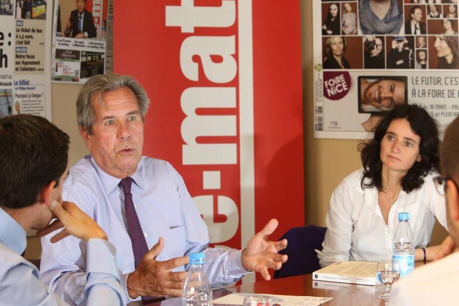 Jean-Louis Debré et sa compagne Valérie Bochenek étaient les invités de Nice-Matin