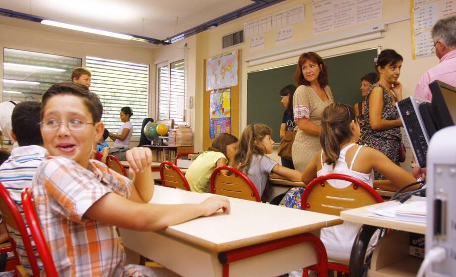 De nombreux établissements, comme ici à l'école de Fontvieille, vont retrouver de l'animation avec l'arrivée des petits