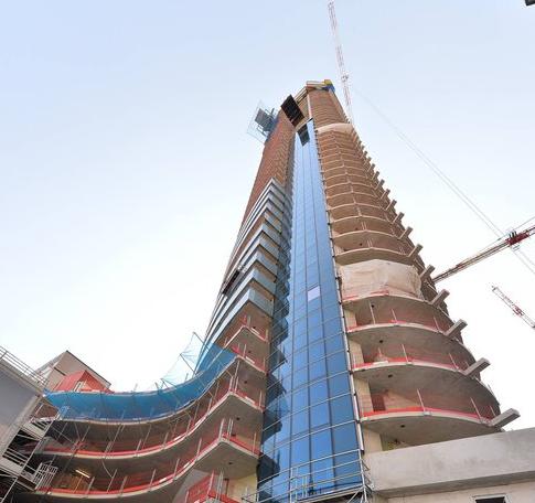Le chantier de la Tour Odéon à Monaco