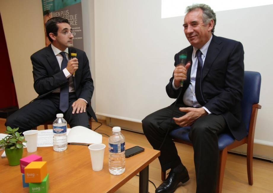 François Bayrou, premier invité de la nouvelle saison des Jeudis de l'actu Ipag / Nice-Matin.