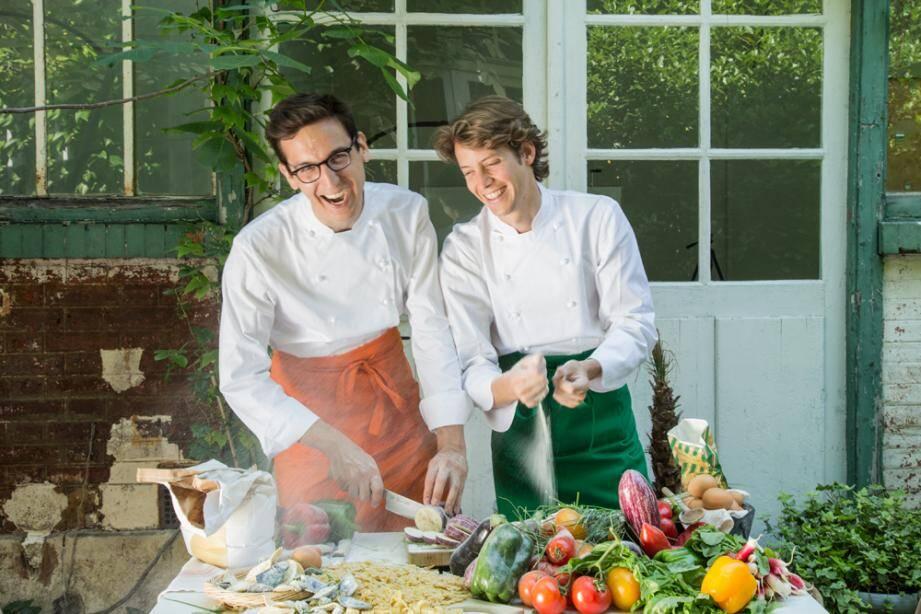 Tigrane Seydoux (à droite) et son associé Victor Lugger développent le concept d'une enseigne de restauration revisitant les grands classiques de la cuisine italienne.
