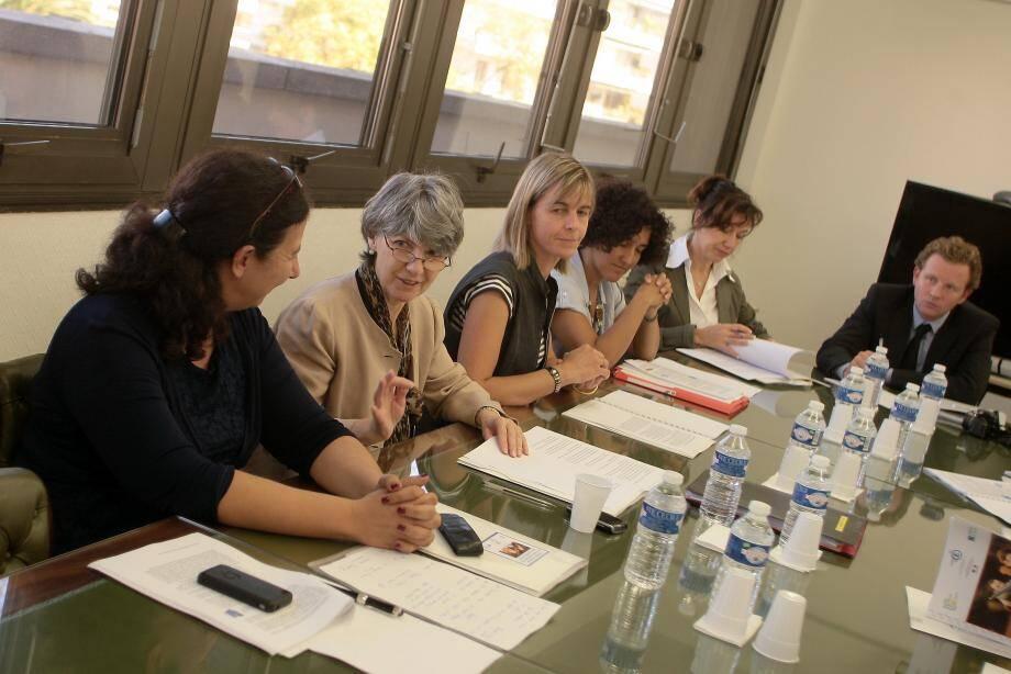 À gauche, Frédérique Vidal, présidente de l'université Nice-Sophia Antipolis et Claire Lovisi, rectrice de l'Académie de Nice, chancelière des universités, ont notamment présidé la conférence de presse de la rentrée universitaire.