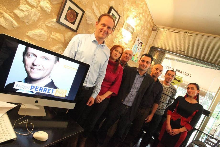 Une partie de l'équipe était présente lors du lancement officiel de la campagne de Philippe Perret.