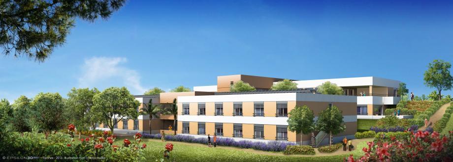 Sur le terrain en légère pente, où les travaux ont commencé ce mois-ci, le foyer, d'une emprise de 2 700 m2, s'étendra sur deux bâtiments de deux niveaux, avec 44 places (dont 4 pour l'hébergement temporaire).