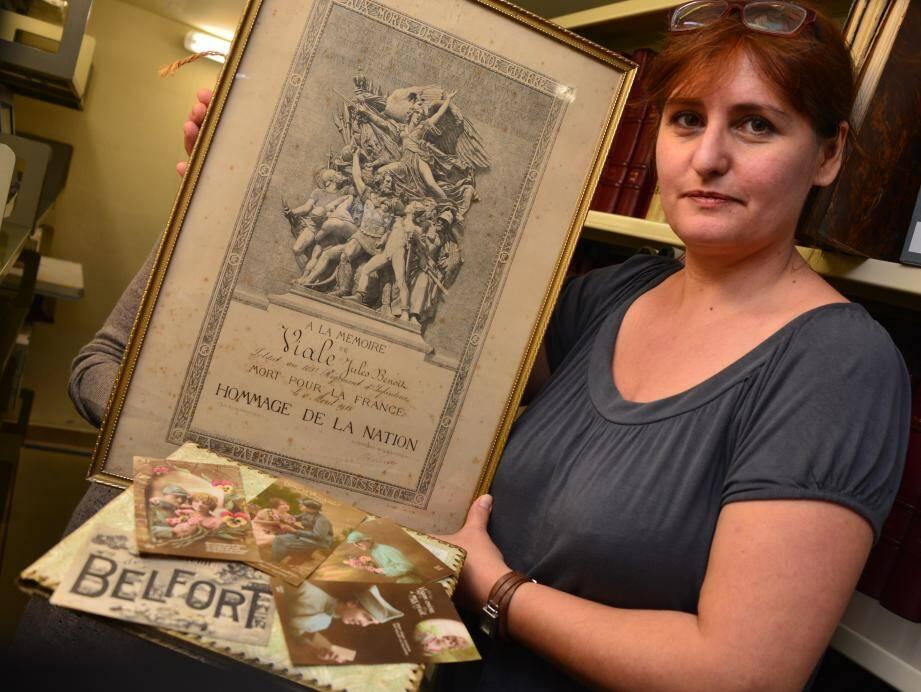 La responsable des archives municipales, Valérie Renoux-Rondelli, a déjà commencé à recevoir des fonds privés, comme la touchante correspondance amoureuse d'un couple durant la guerre.