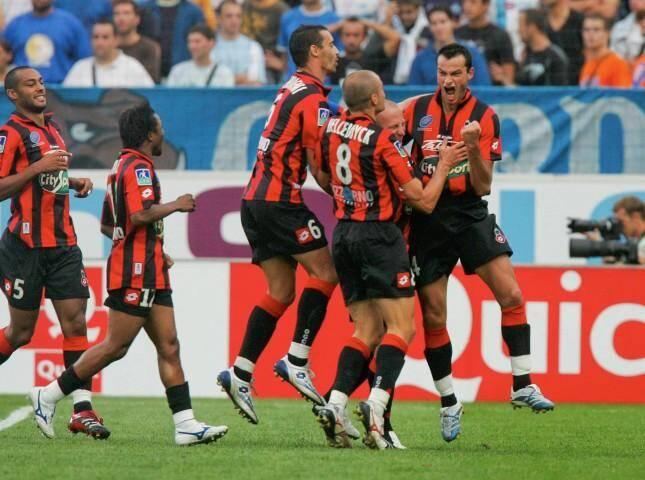 29 août 2007: Vincent Hognon vient d'ouvrir le score. L'OGC Nice n'avait plus gagné à Marseille depuis 31 ans...