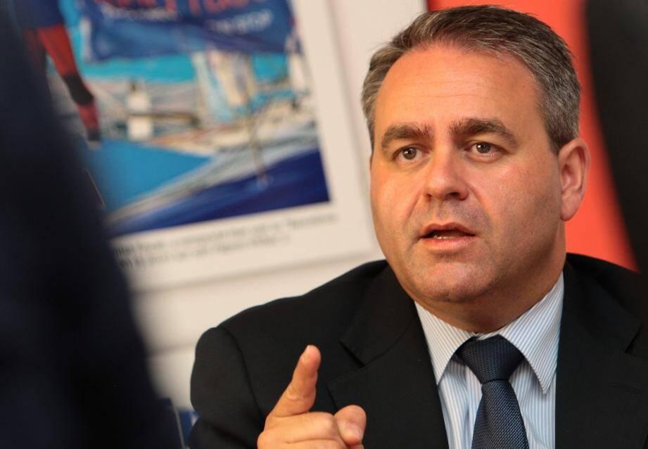 Xavier Bertrand face à la rédaction de Nice-Matin
