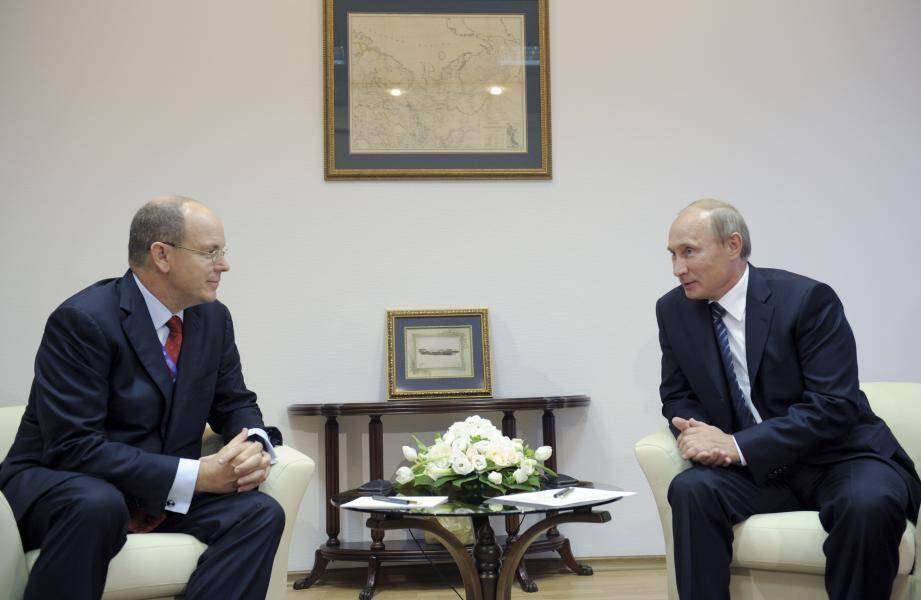 Après cet entretien en 2011, les deux chefs d'Etat se retrouvent cette semaine à Moscou dans le cadre de la première visite officielle du prince Albert II en Russie.