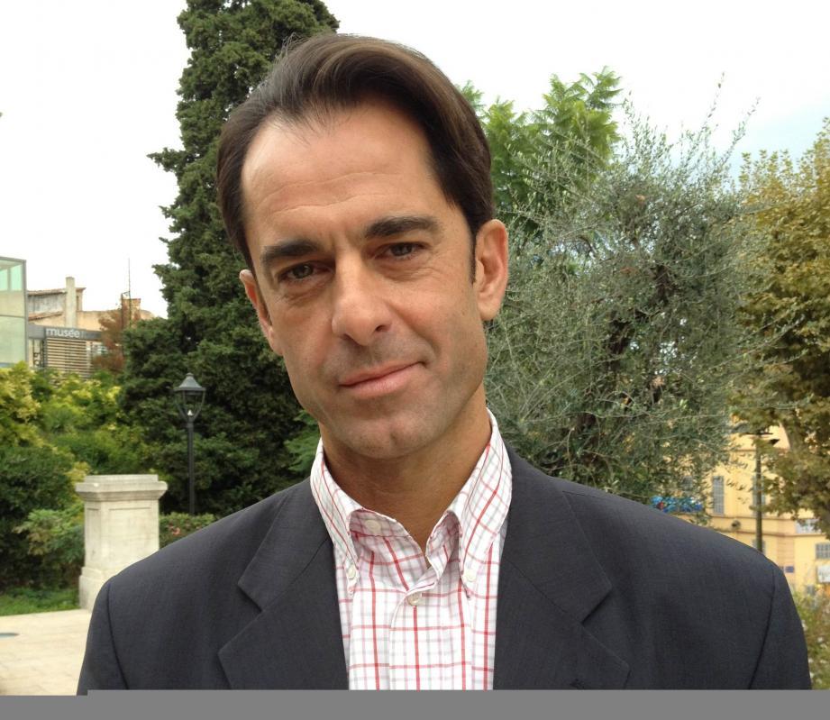 Pierre-Marie Carlier, tête de liste socialiste aux municipales 2014 à Grasse.