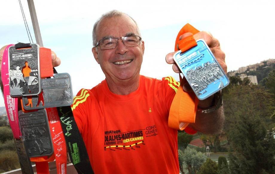 L'homme de 73 ans a déjà bouclé les cinq premières éditions du marathon azuréen.