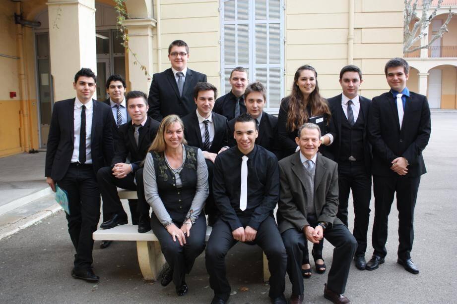 Des étudiants motivés pour une matinée d'entretiens au lycée Amiral de Grasse.