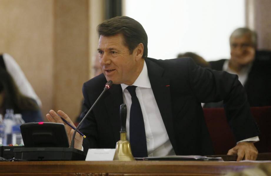Christian Estrosi au conseil municipal de Nice