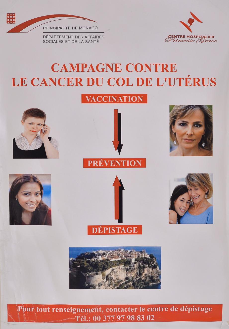 À l'accueil du service de gynécologie obstétrique du CHPG, cette affiche, qui encourage à la vaccination.