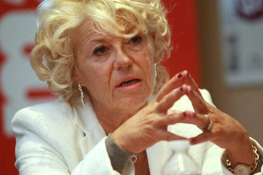 Marie-Christine Arnautu face à la rédaction de Nice-Matin.