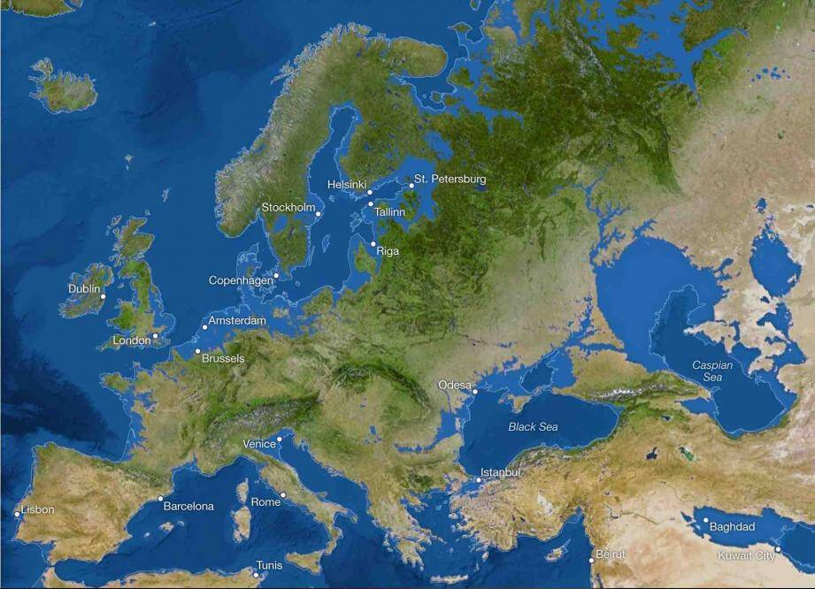 Le littoral azuréen devrait disparaître sous les eaux quand tous les glaciers terrestres auront fondu...