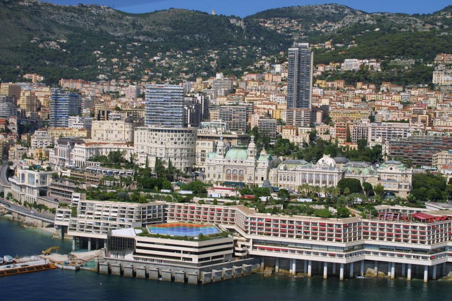 Vue aérienne de Monaco.
