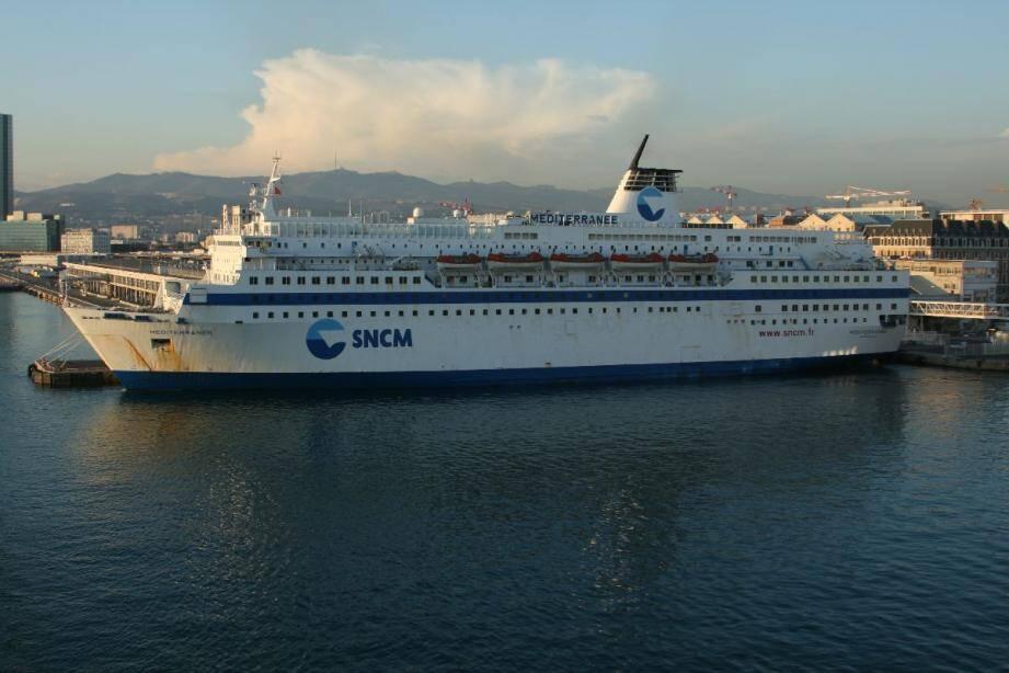 Le navire Méditerranée de la SNCM.