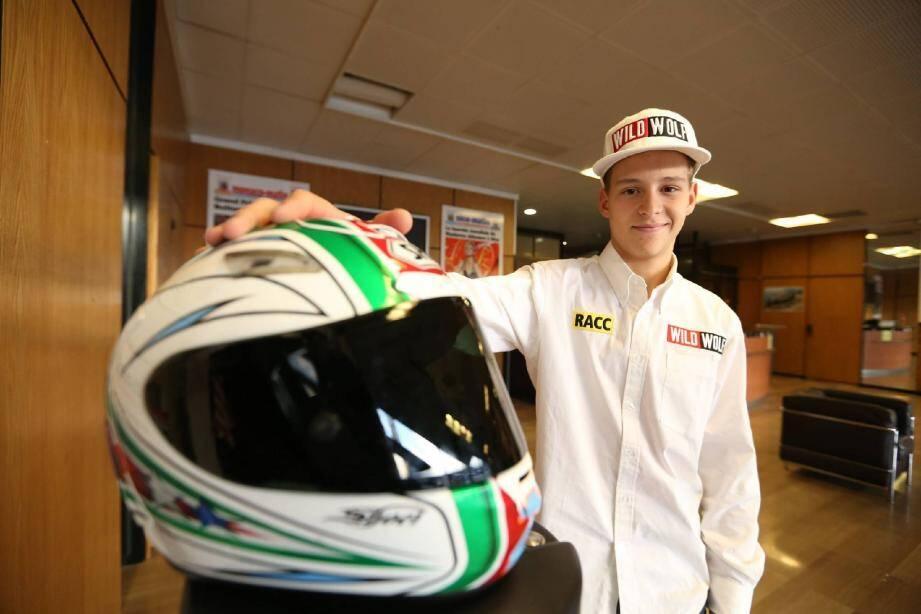 Fabio Quartararo, de passage à Nice-Matin après son titre de champion d'Espagne de vitesse en moto3.