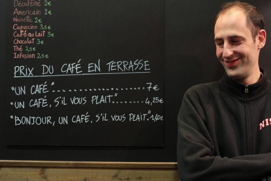 C'est cette ardoise du restaurateur niçois Fabrice Pepino qui fait le buzz.