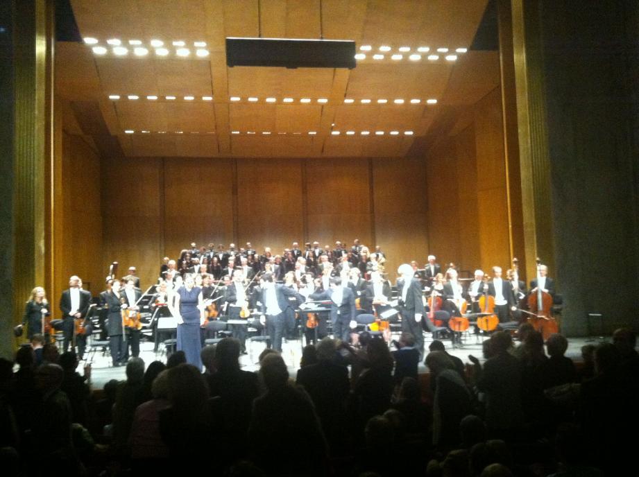 L'Opéra et l'Orchestre de Monte-Carlo, avec Juan Diego Florez et Béatrice Uria-Monzon, mercredi soir, au Théâtre des Champs-Elysées.