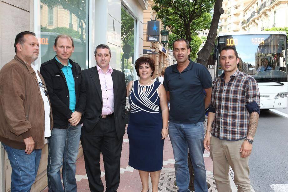 De gauche à droite : Rémy Bertola, Jean-René Manfredi, Christian Grimaldi, Géraldine Motillon, Didier Dorfmann et Sébastien Boffa.