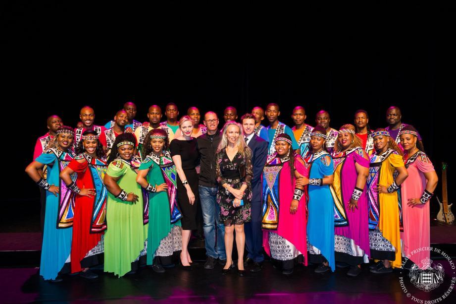 La princesse Charlène et le Soweto Gospel Choir