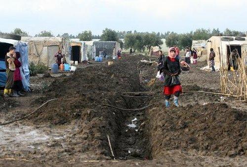 Des réfugiés syriens le 12 décembre 2013 à Aboudieh au Liban - Photo de Ghassan Sweidan - AFP © 2013 AFP