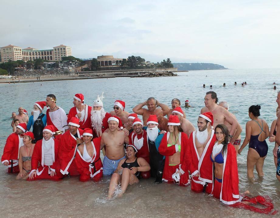 bain de noel à Monaco