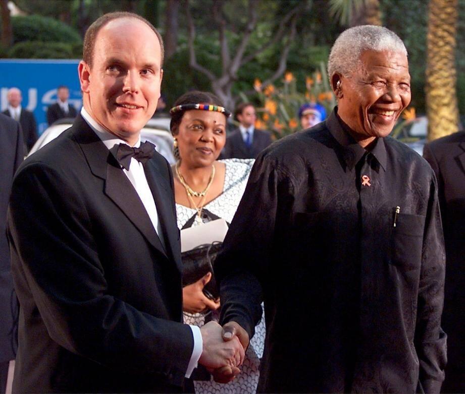 Le Prince Albert II de Monaco avait rencontré en 2007 le président sud-africain.