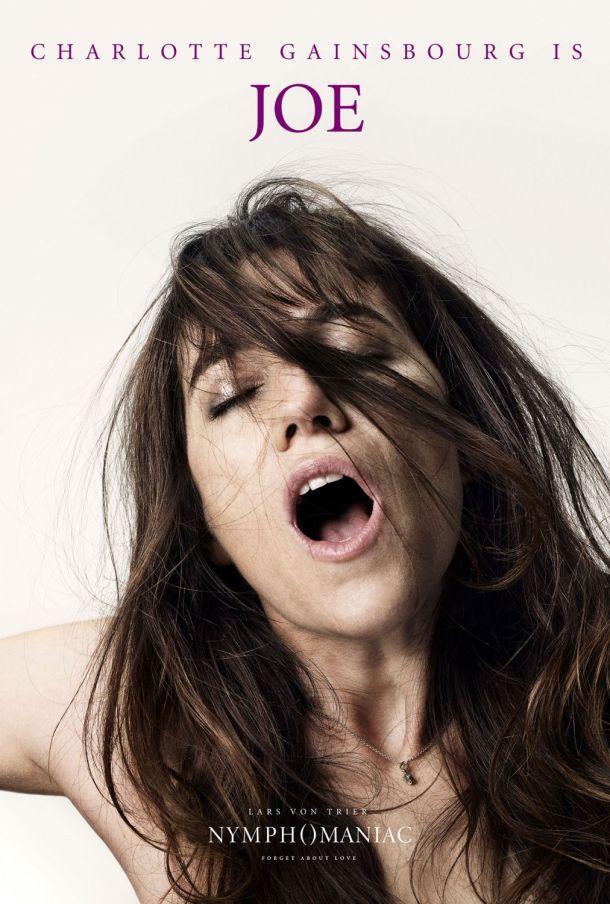 L'une des affiches de Nymphomaniac, qui montre Charlotte Gainsbourg en pleine extase.